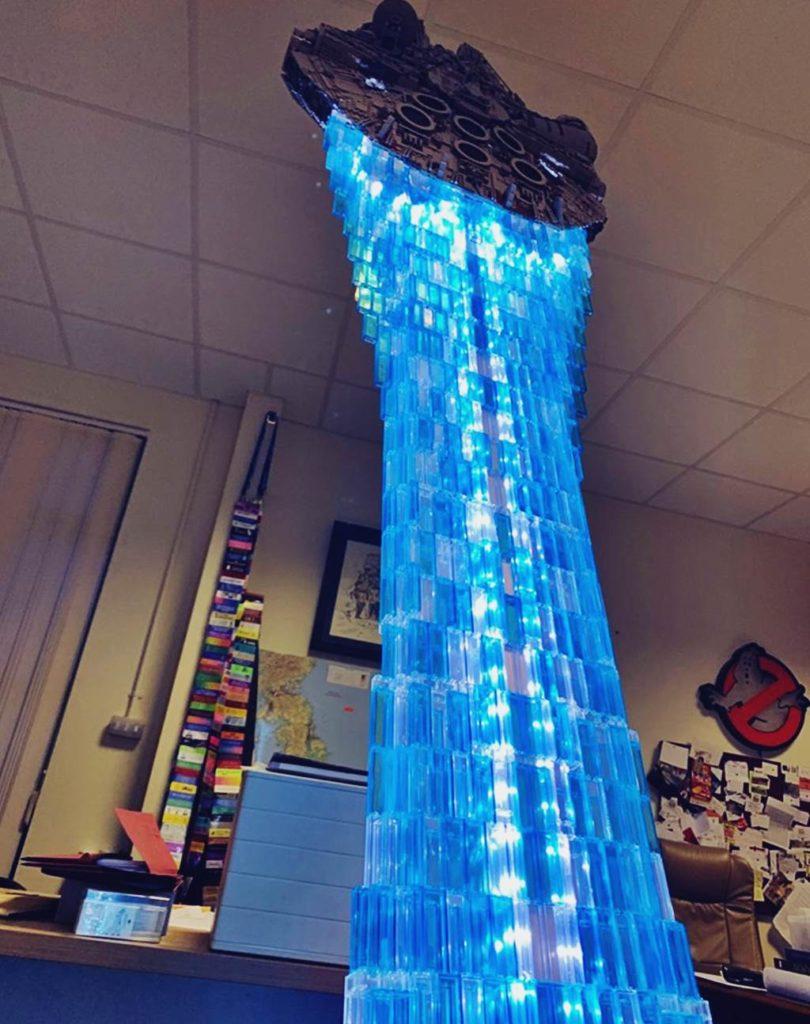 Der mächtige Lego Schubstrahl des Millennium Falcon
