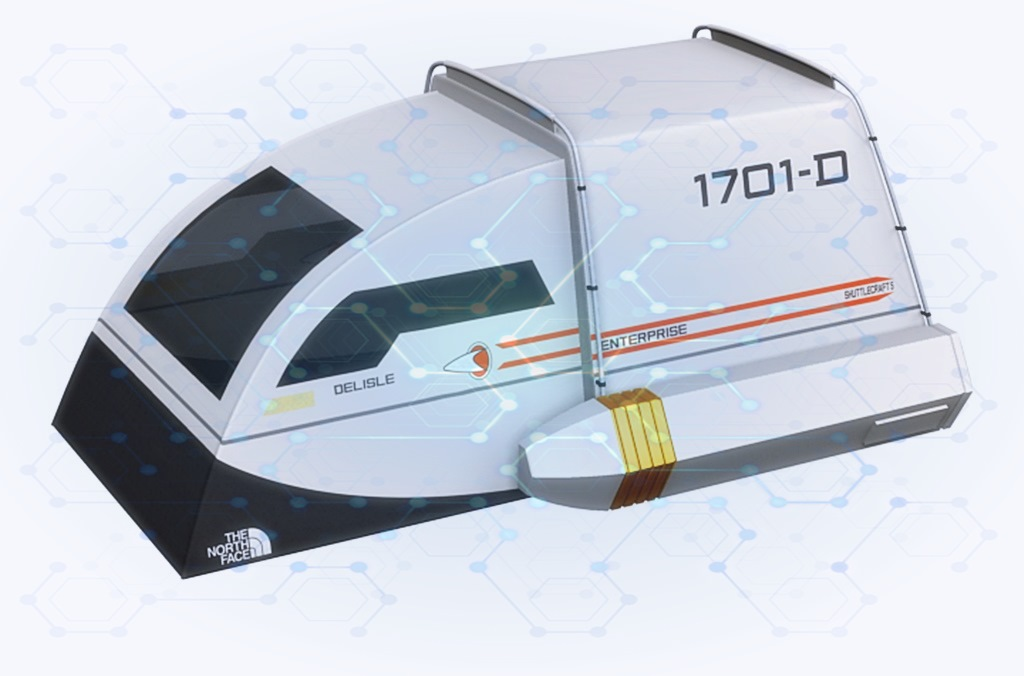 Star Trek Enterprise Shuttle Zelt - Designed für Trekkies und Geeks- dave-delisle camping zelt outdoor
