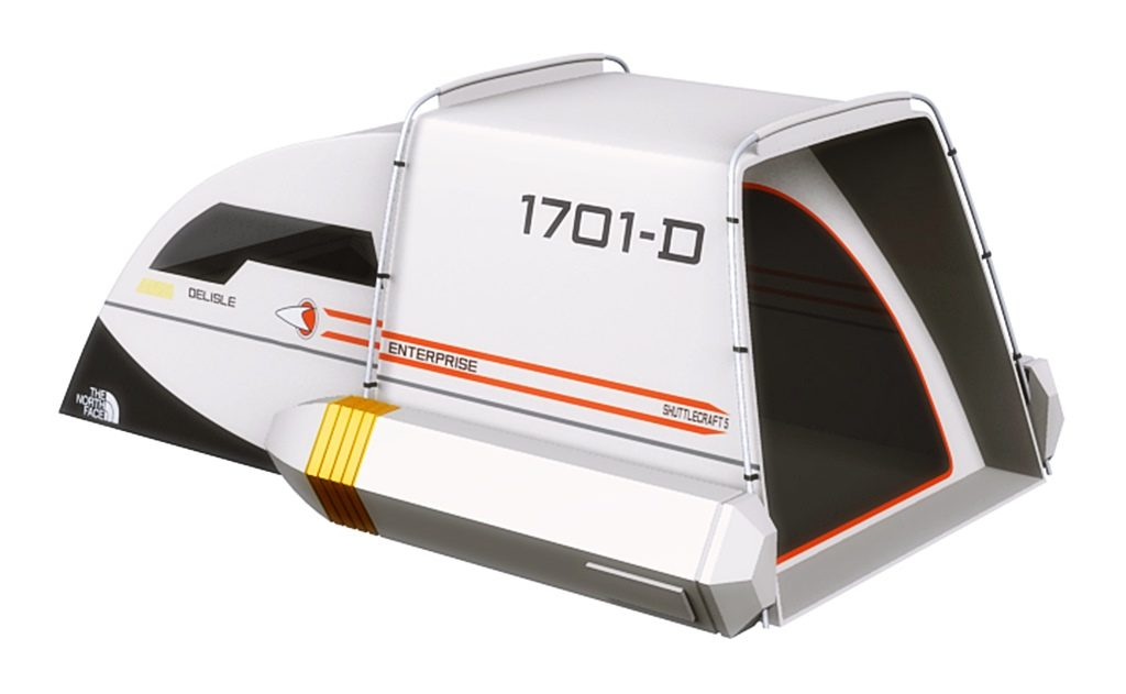 Star Trek Enterprise Shuttle Zelt - Designed für Trekkies und Geeks