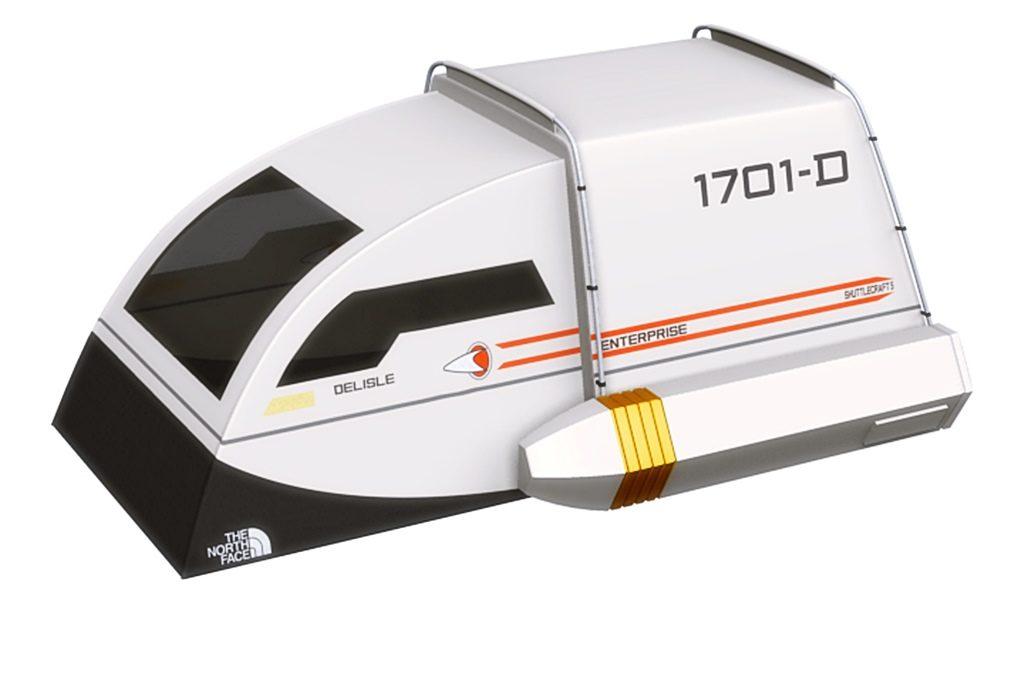 Star Trek Enterprise Shuttle Zelt - Designed für Trekkies und Geeks