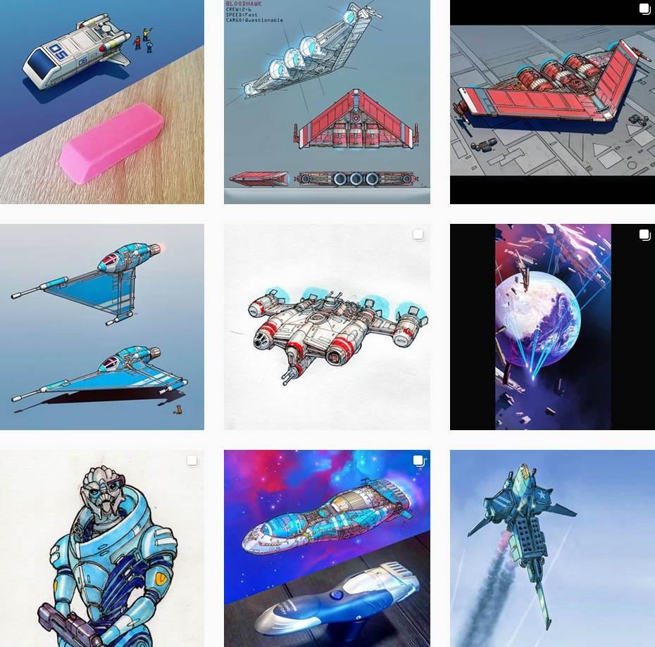 Eric Geusz verdandelt Alltagsgegenstände in Raumschiffdesigns