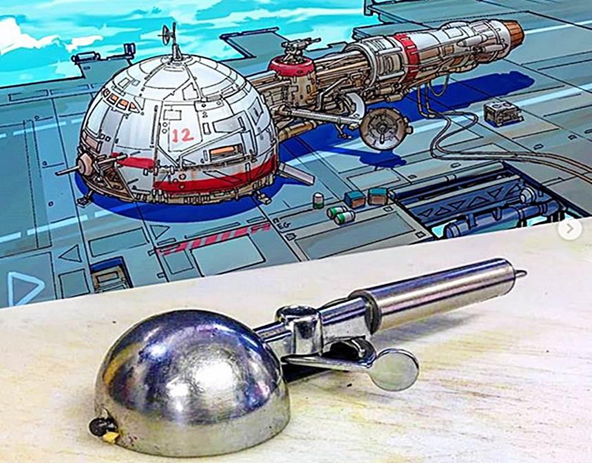 Der Digitalkünstler Eric Geusz verwandelt Alltagsgegenstände in spektakuläre Raumschiffdesigns