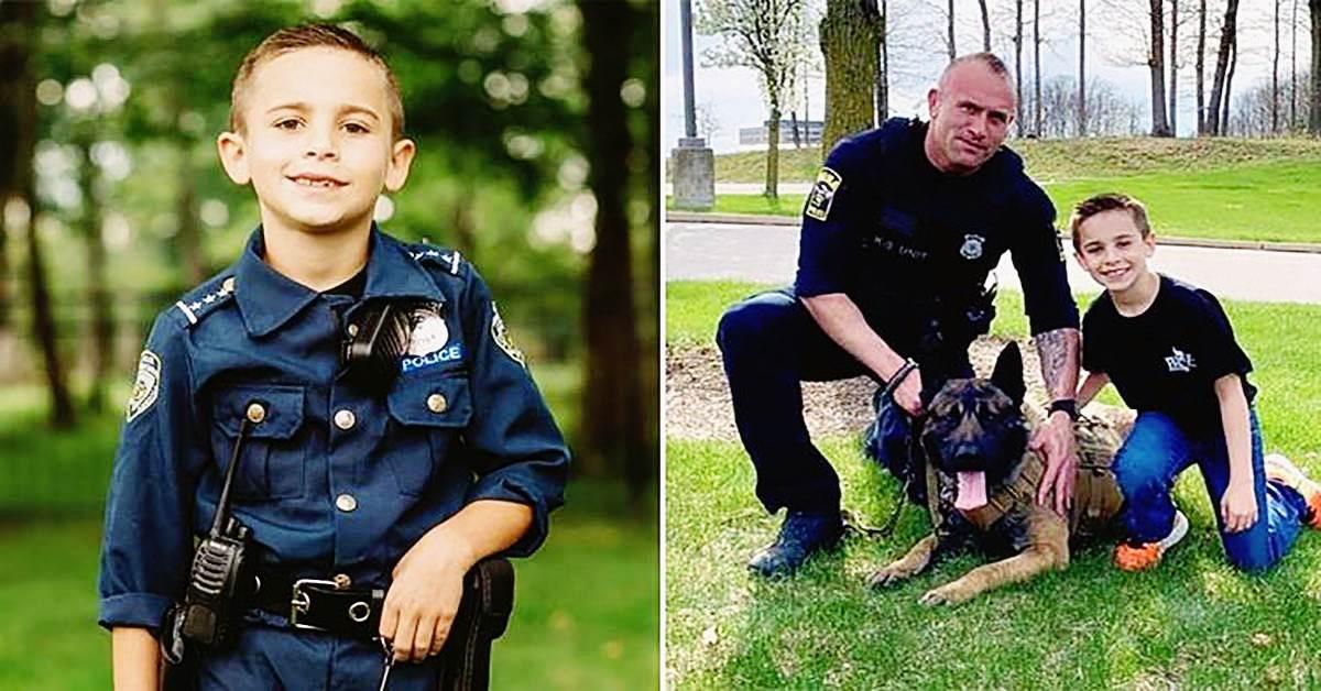 9 jähriger sammelt fast 80000 us dollar ein um kugelsichere westen für polizeihunde zu kaufen