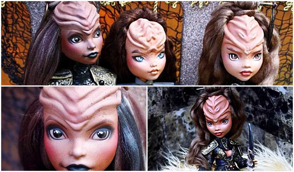 Künstler verwandelt Monster High Dolls in wilde klingonische Krieger Star Trek Titelbild